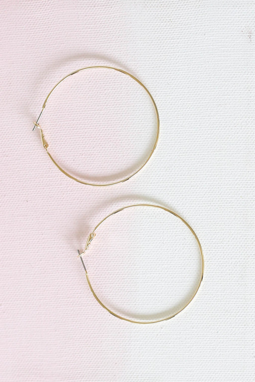 Gold - Medium Sized Hoops Flat Lay