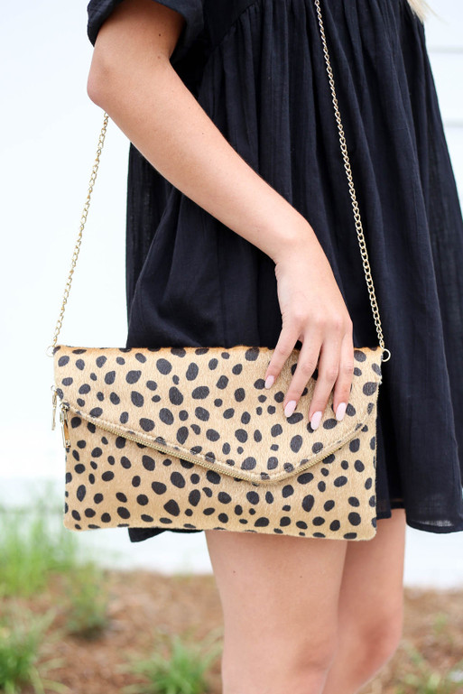 Leopard - Cheetah Print Envelope Clutch