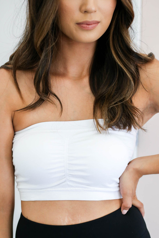 White - Padded Strapless Bandeau