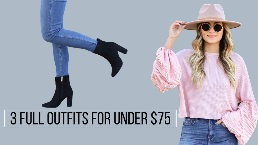 3 FULL OUTFITS FOR UNDER $75