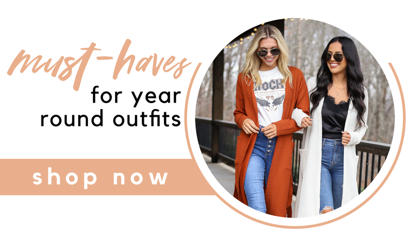 10 CLOSET MUST HAVES FOR YEAR ROUND OUTFITS