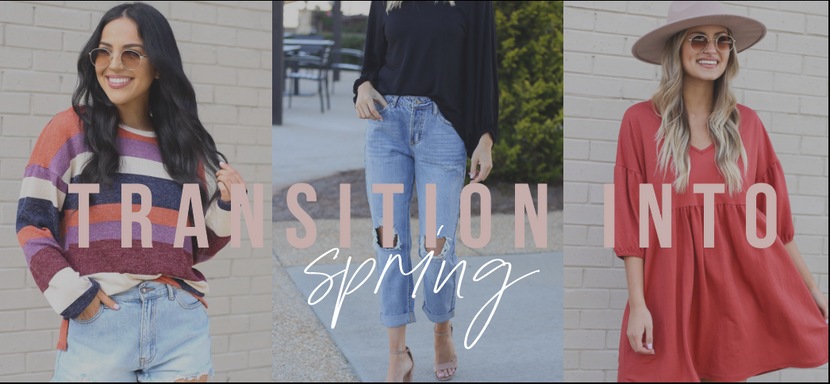 TRANSITION INTO SPRING WITH THESE PIECES