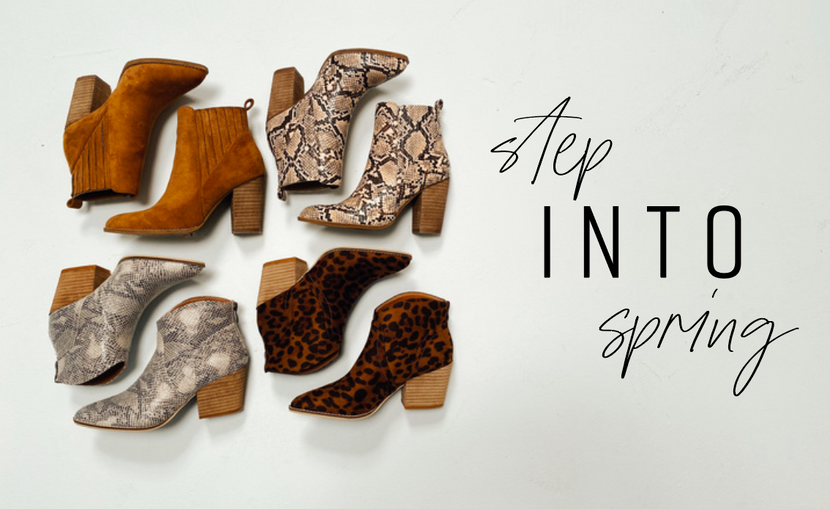 STEP INTO SPRING WITH THESE NEW SHOES!