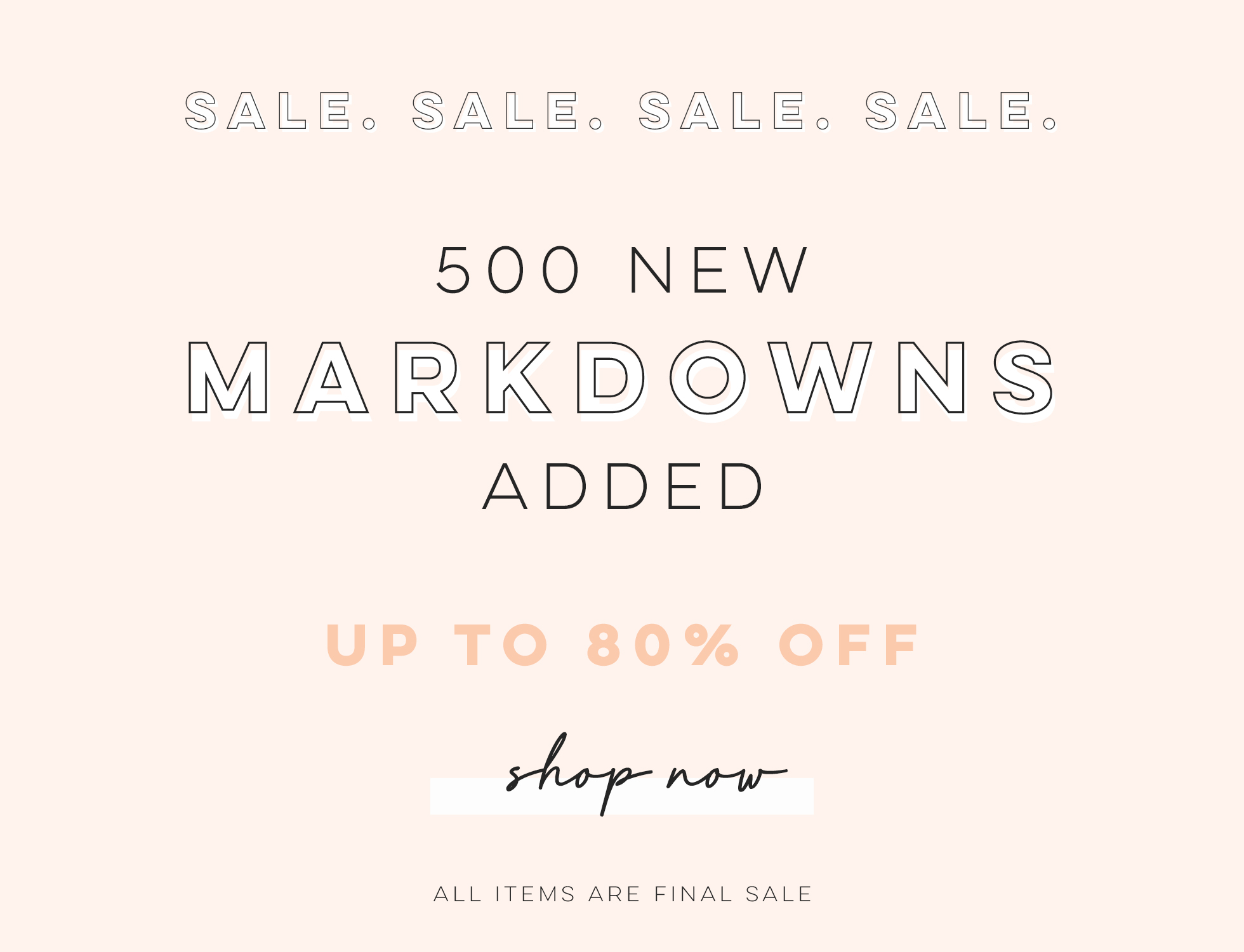 500 new markdowns added