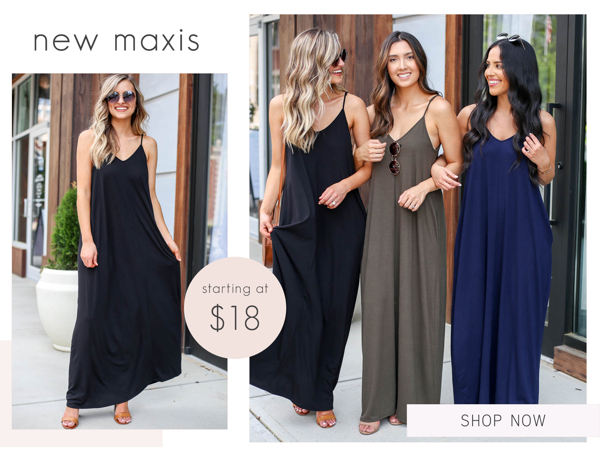 7d844ddd9c maxi dresses slider with olive navy and black maxis