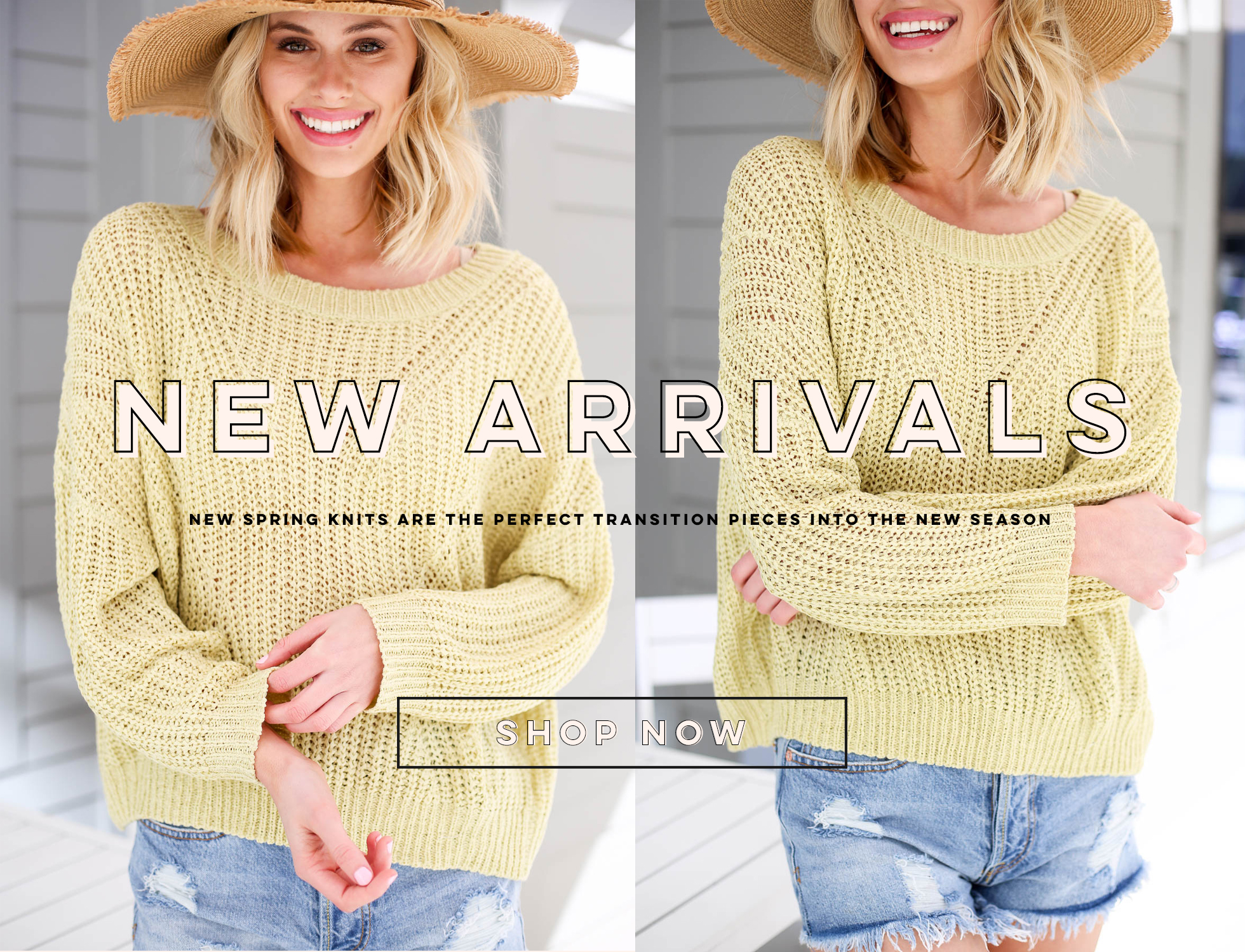yellow knit sweater new spring knits