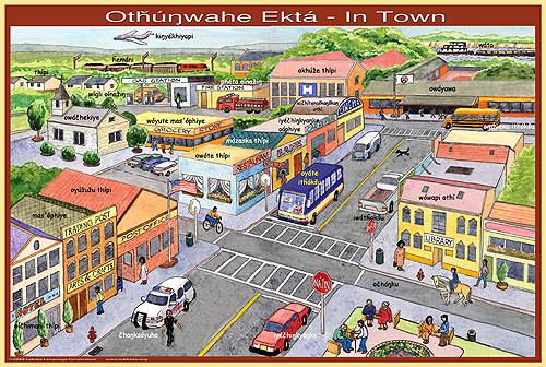 Lakota Town Poster