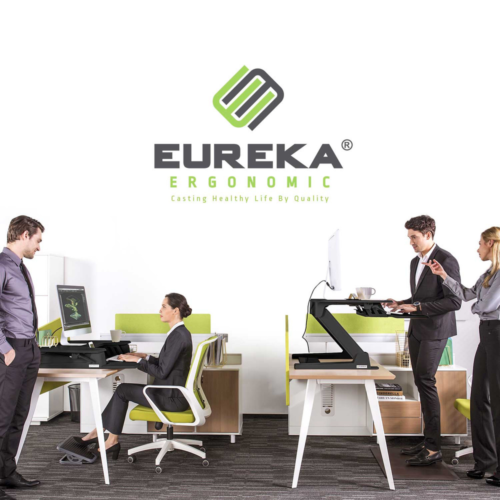 Eureka Ergonomic® Height Adjustable Standing Desk Converter - 36 Inch, Black