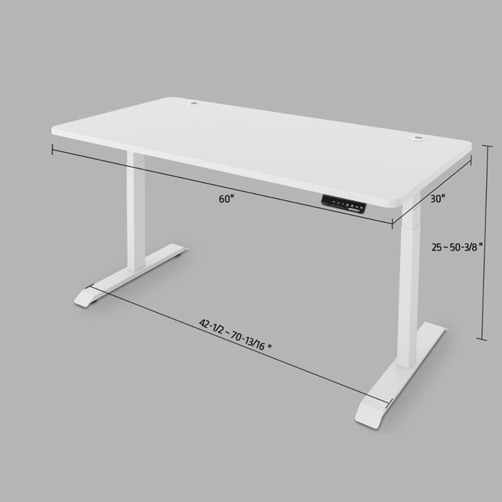 Eureka Ergonomic Standing Desk E60- Electric Height-Adjustable - ERK-EDK-W