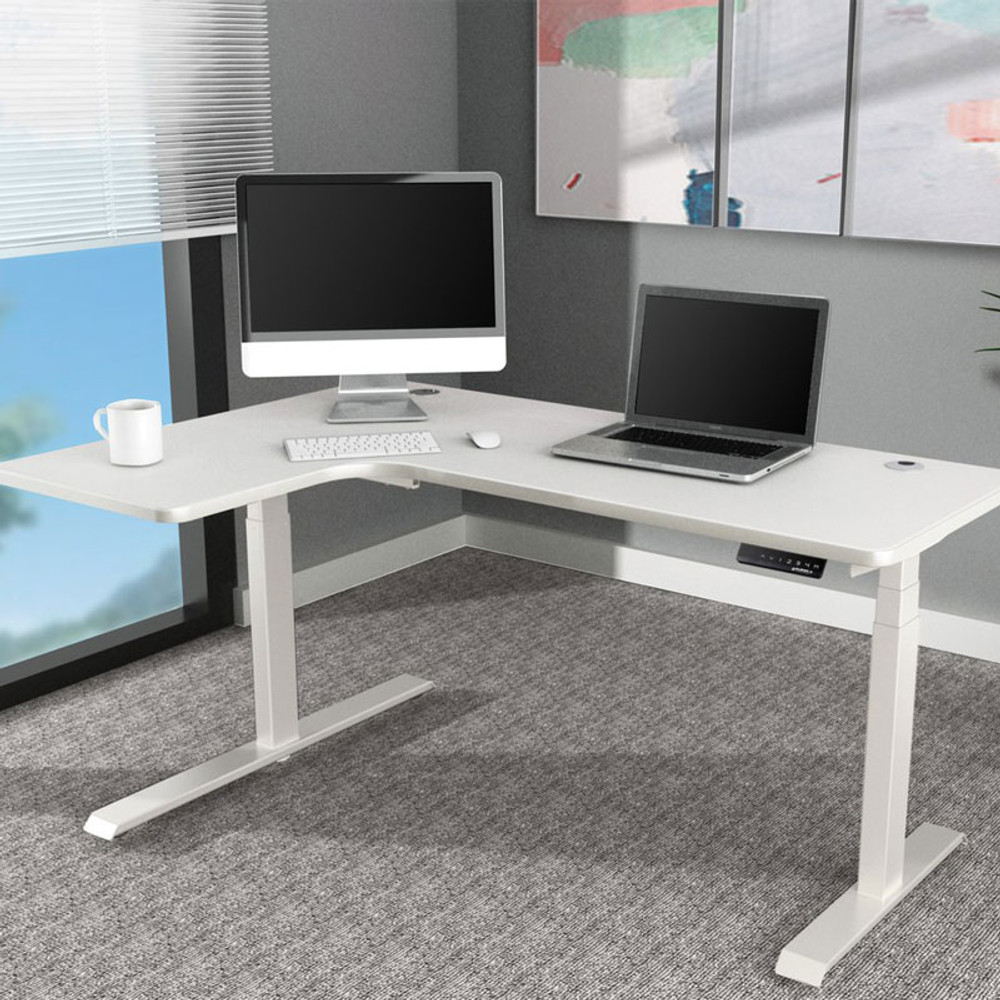 Eureka Standing Desk E60 - L Shape Desk (Left) Electric Height-Adjustable - 30-Day Risk Free Guarantee Plus FREE Shipping
