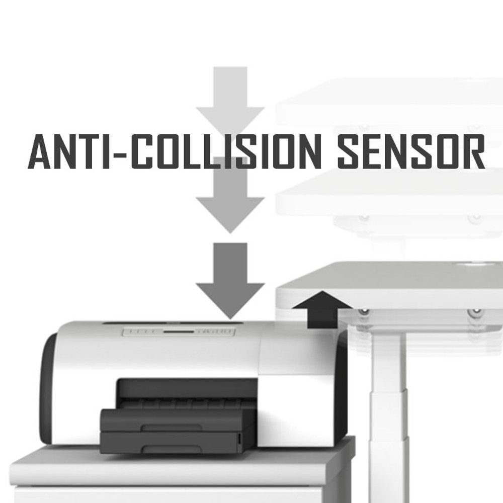Anti-Collision Sensor in the Eureka Standing Desk E60 - L Shape Desk Left Electric Height-Adjustable -