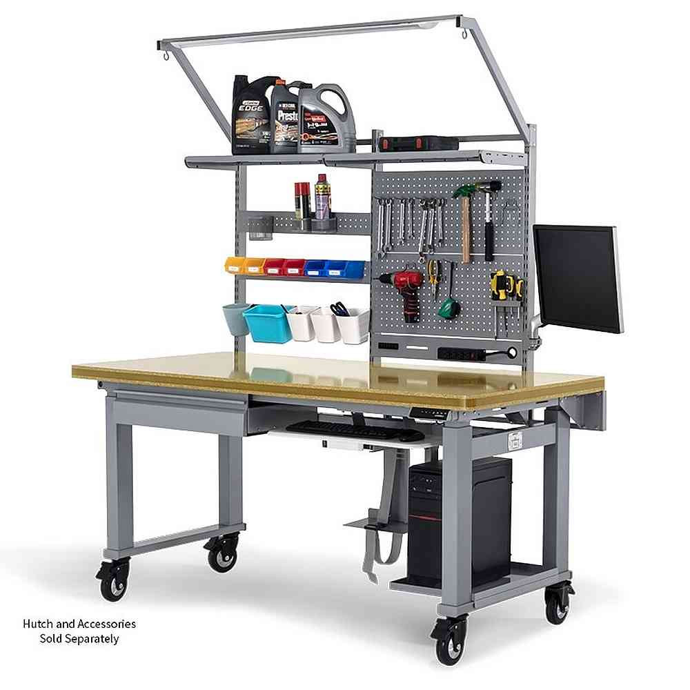 Eureka Ergonomic® Height Adjustable Electric Workbench, 72 Inch Top Garage Work Table, Heavy-Duty Steel Workstation - ERK-EW-GW