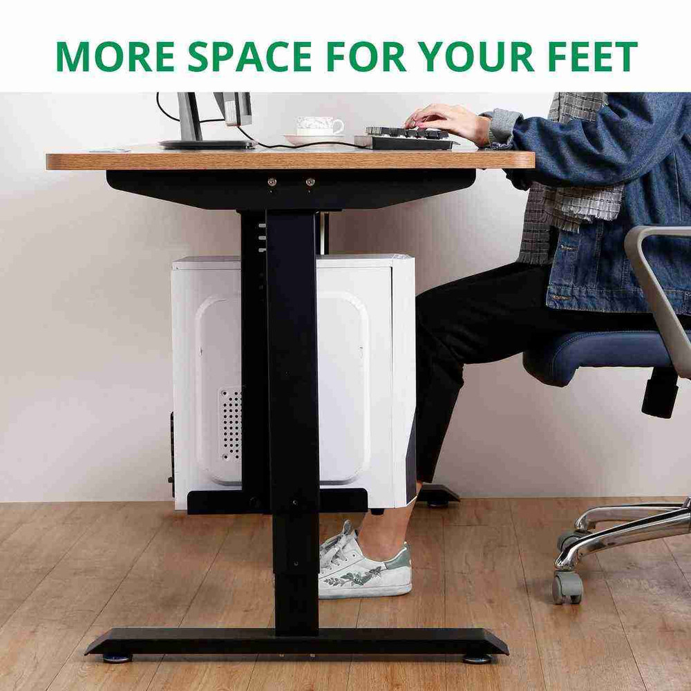 Eureka Ergonomic® Height Adjustable Heavy Duty Under Desk CPU Holder/Mount - Black