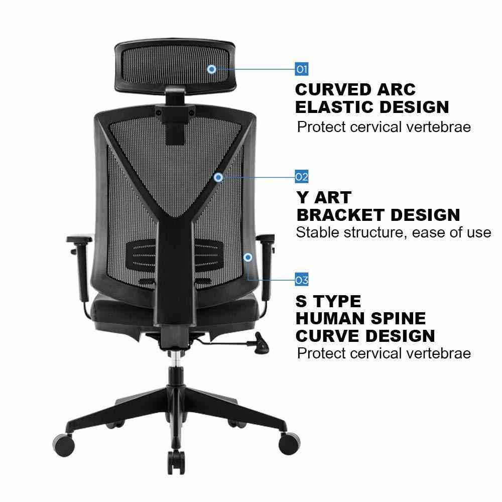 Fantastic Eureka Ergonomic High Back Executive Mesh Office Computer Desk Chair With Armrest Black Ncnpc Chair Design For Home Ncnpcorg