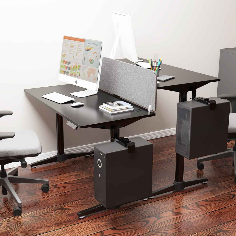 Eureka Ergonomic® Height Adjustable Electric Stand Up Desk, Black - ERK-EHD-I1-B