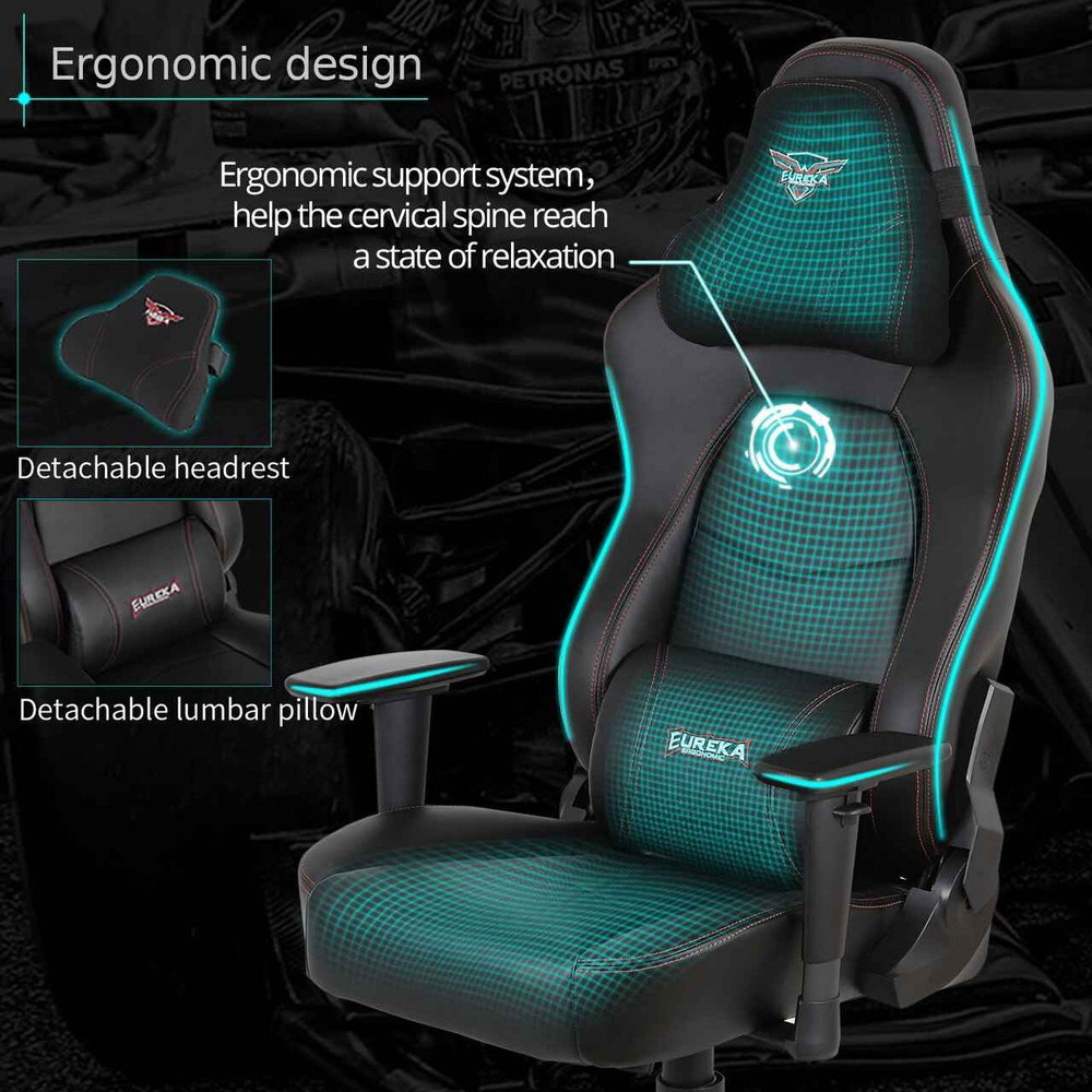 Eureka Ergonomic® Height Adjustable High Back Leather Computer Gaming Chair - ERK-GC-02