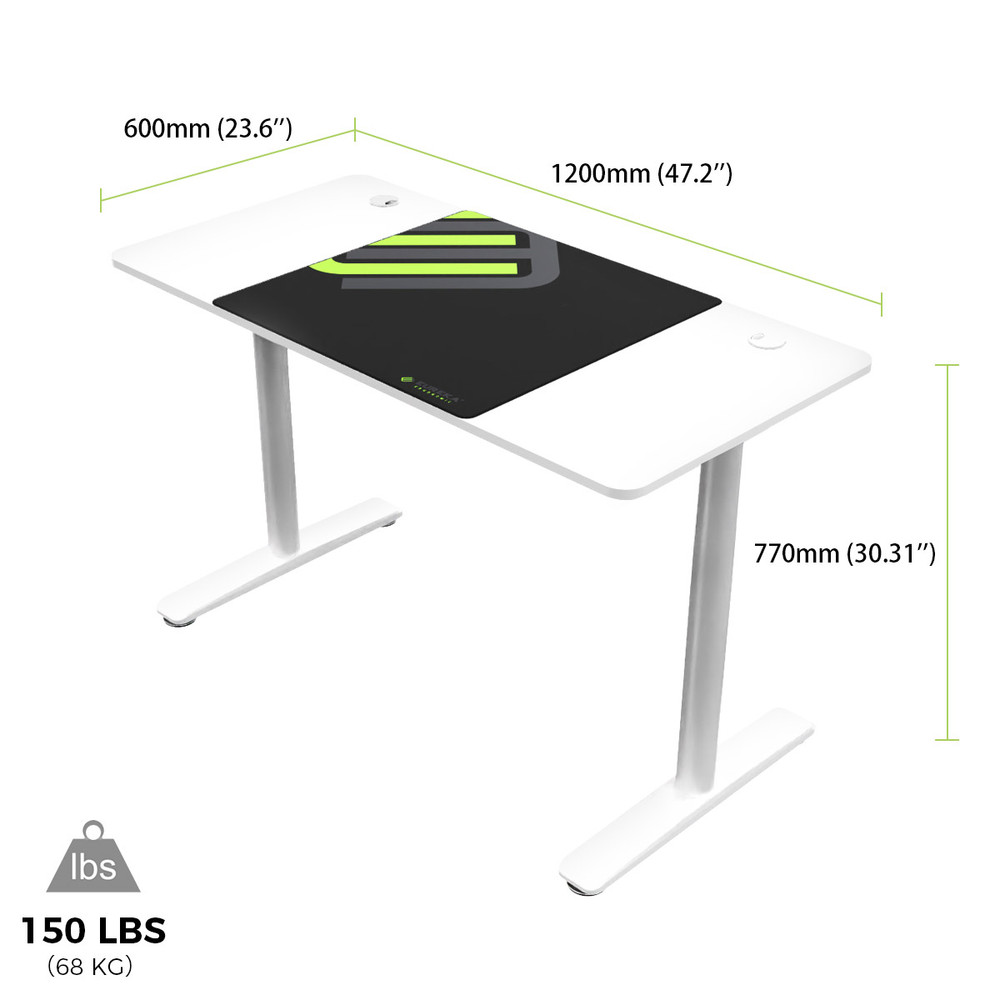 Eureka Ergonomic® Modern Simple 47'' Home Office Computer DesK, White (ERK-IOD-47W)