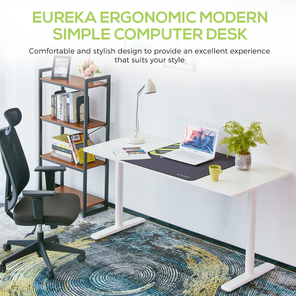 Eureka Ergonomic® Modern Simple 60'' Home Office Computer Desk, White (ERK-IOD-60W)
