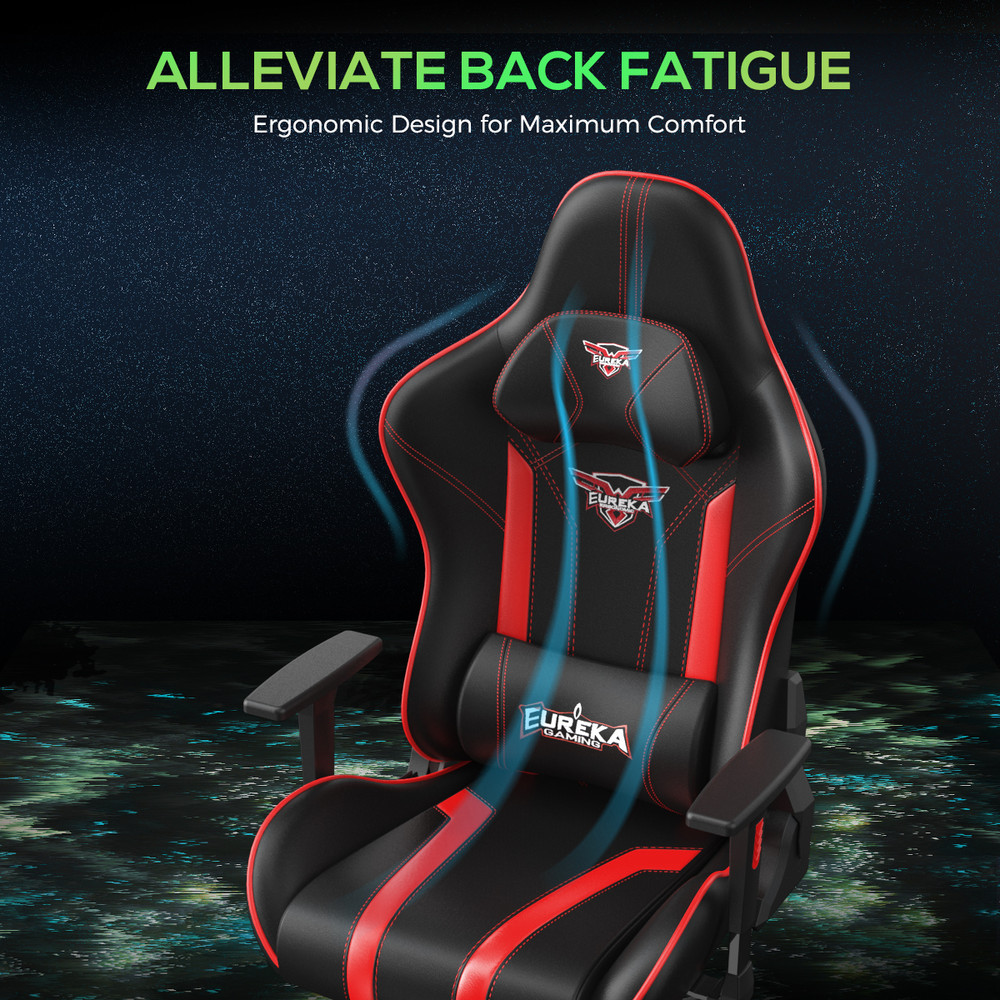Eureka Gaming Colonel Series GC04 Home Office E-sport Chair, Ergonomic Design with Rocking Function (ERK-ZY-GC04-PURD)