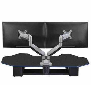 Eureka Ergonomic® Dual Monitor Stand, Height Adjustable Full Motion (360) Arm Mount - ERK-MA-D02S