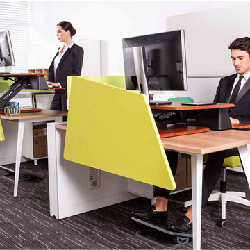 Eureka Ergonomic® Height Adjustable Sit Stand Desk - 31.5 Inch, Cherry - ERK-CV-31C