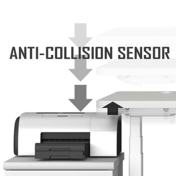 Anti-Collision Sensor in the Eureka Standing Desk E60 - L Shape Desk (Left) Electric Height-Adjustable - 30-Day Risk Free Guarantee Plus FREE Shipping