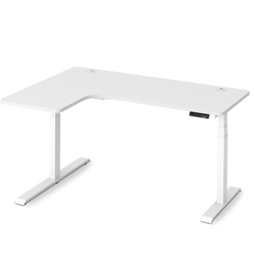 Eureka Standing Desk E60 - L Shape Desk Left Electric Height-Adjustable - ERK-EDKLL-W