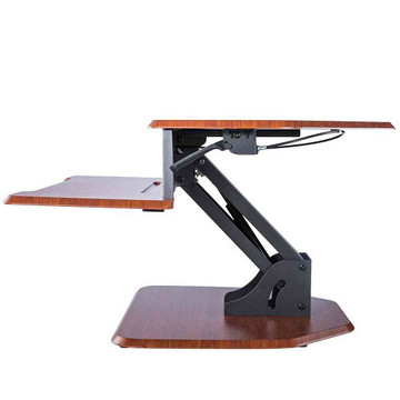 Eureka Ergonomic® Height Adjustable Corner Sit Stand Desk with Keyboard Tray, 28 Inch - Cherry - ERK-DCC-28C