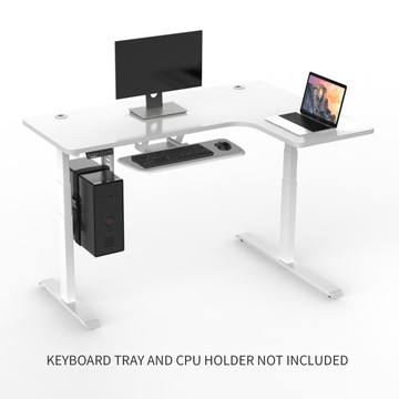 Eureka Ergonomic® Height Adjustable L-Shape Corner Electric Standing Desk (Right)