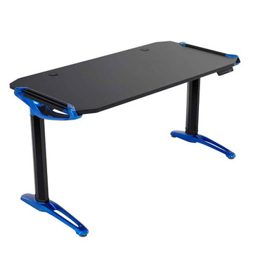 Eureka Ergonomic® Height Adjustable Electric E1 Racer Standing Gaming Desk, Electric Blue