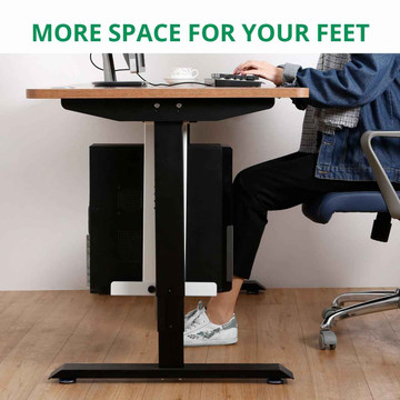 Eureka Ergonomic® Height Adjustable Heavy Duty Under Desk CPU Holder/Mount - White