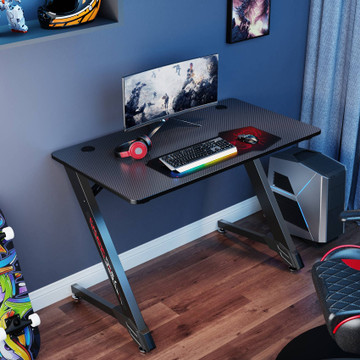 Eureka Ergonomic® 43'' Z Shaped Small Gaming Computer Desk, Home Office Gaming Computer Table (ERK-GD-4301)