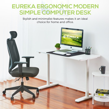 Eureka Ergonomic® Modern Simple 47'' Computer Desk - White (ERK-IOD-47W)