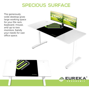 Eureka Ergonomic® Modern Simple 60'' Computer Desk - White (ERK-IOD-60W)