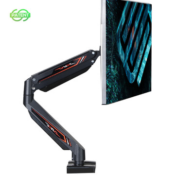 Eureka Gaming® Single Monitor Stand, Height Adjustable Full Motion (360) Arm Mount, Gaming Design (ERK-MA-S03B)