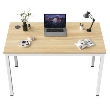 Eureka Ergonomic® 31'' Modern Simple Home Office Computer Desk, Writing Table for Workstation, White/Embossed Wood Grain (ERK-D04-EW)