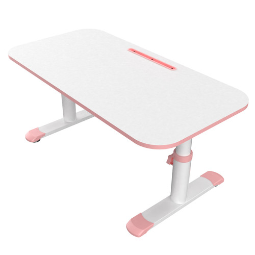 Eureka Learning Desk, 100'' Height Adjustable Student Multifunctional Study Desk, Anti-Reflective Writing Desktop for Homeschooling Learning Reading Drawing, Pink