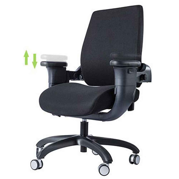 Eureka Ergonomic® Mid-Back Executive Swivel Office Computer Desk Chair with Armrest - Black - ERK-SC-001