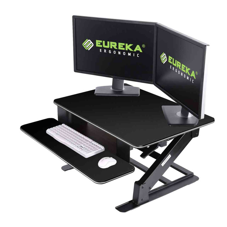 Eureka Ergonomic® Height Adjustable Standing Desk Converter, 32 Inch - Black - ERK-CV-32B