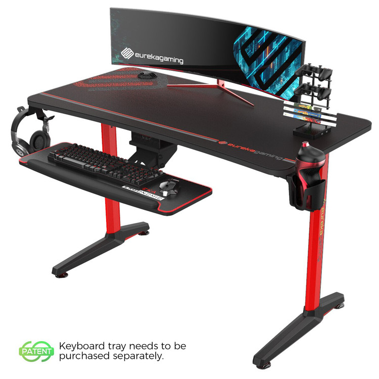 EUREKA GAMING CAPTAIN SERIES GIP-P47 E-SPORT DESK - RED (ERK-GIP-P47R)