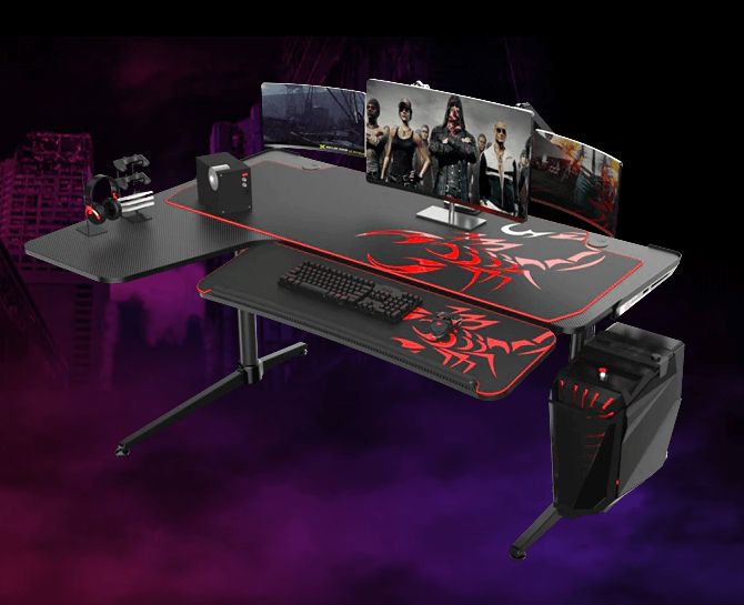 Eureka Z60 Gaming Desk - PC Gaming Desk