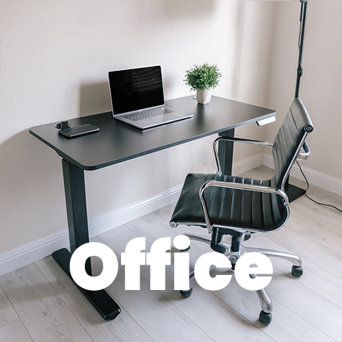 EHD-4801 Office Height Adjustable Desk Setup with Laptop and Chair