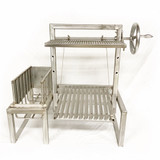 Standalone Stainless Steel Argentine Grill Kit with Legs & Side Brasero