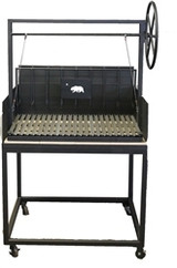 Residential Argentine Grill with Rear Brasero Plus Cart with 4 Casters