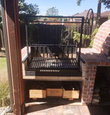 Argentine Grill Kit with Rear Brasero  and Flange