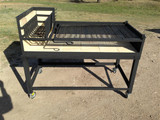 "54"" Uruguayan Grill with SS Grilling Surface Plus Cart"