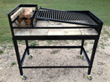 """45"""" Uruguayan Grill with SS Grilling Surface plus Cart"""