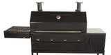 4 Burner Wood/Charcoal/Gas Patio Grill/Smoker
