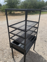 Mallmann's Portable Armado with Roasting Rack Angle View