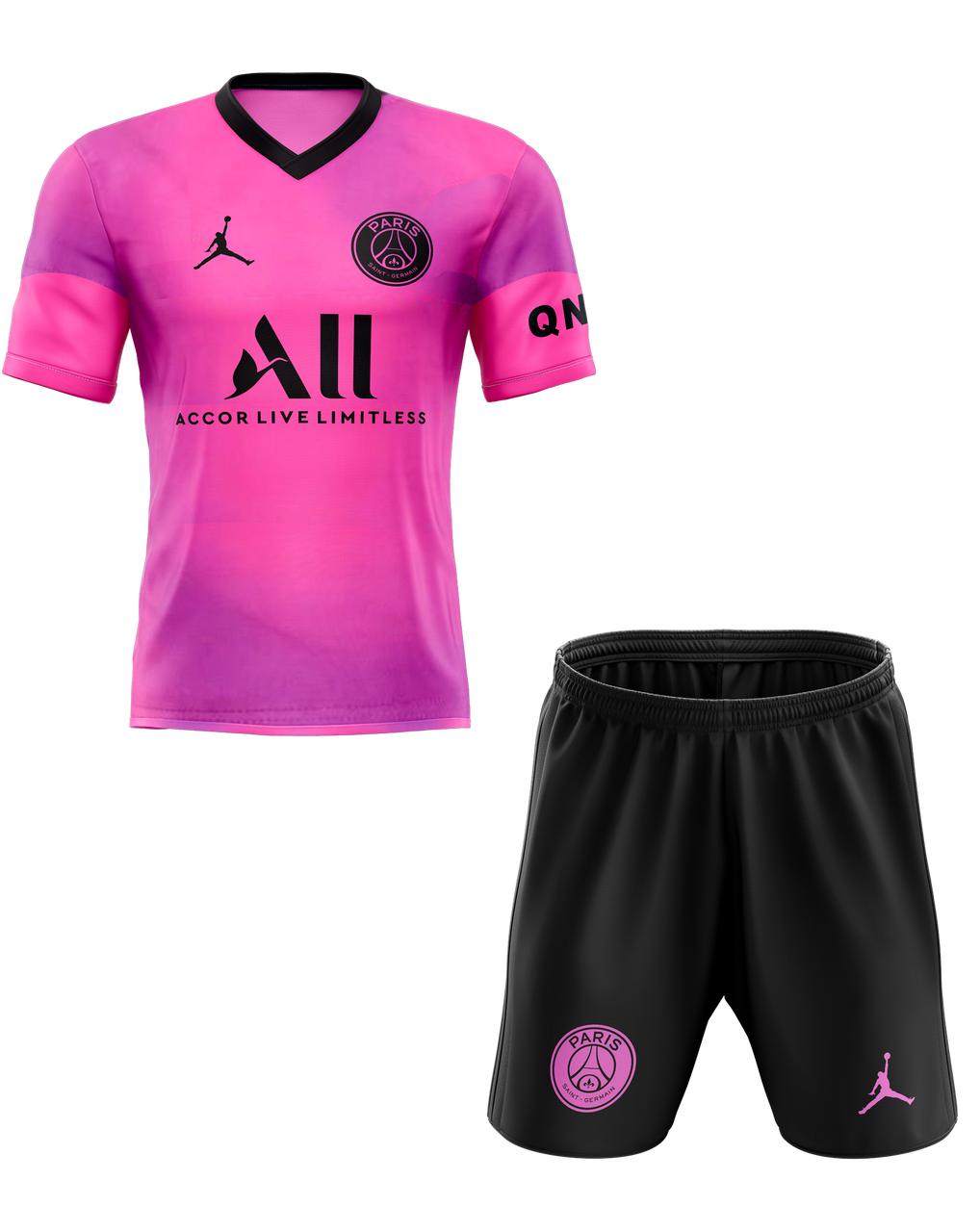 20 21 Psg Training Neon Pink Kids Kit With Free Name And Number Coolkits4u